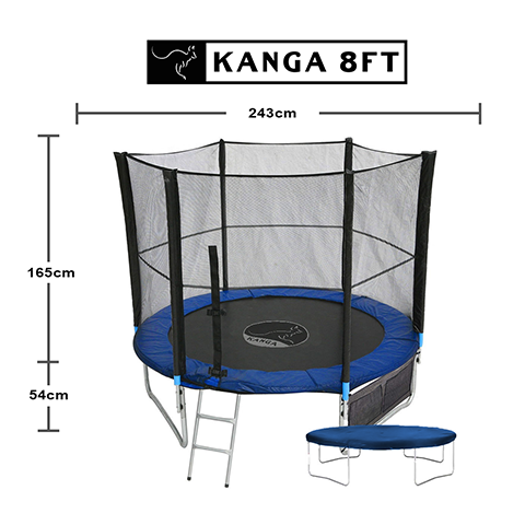 6ft 8ft 10ft 12ft Trampoline With Enclosure Net Ladder
